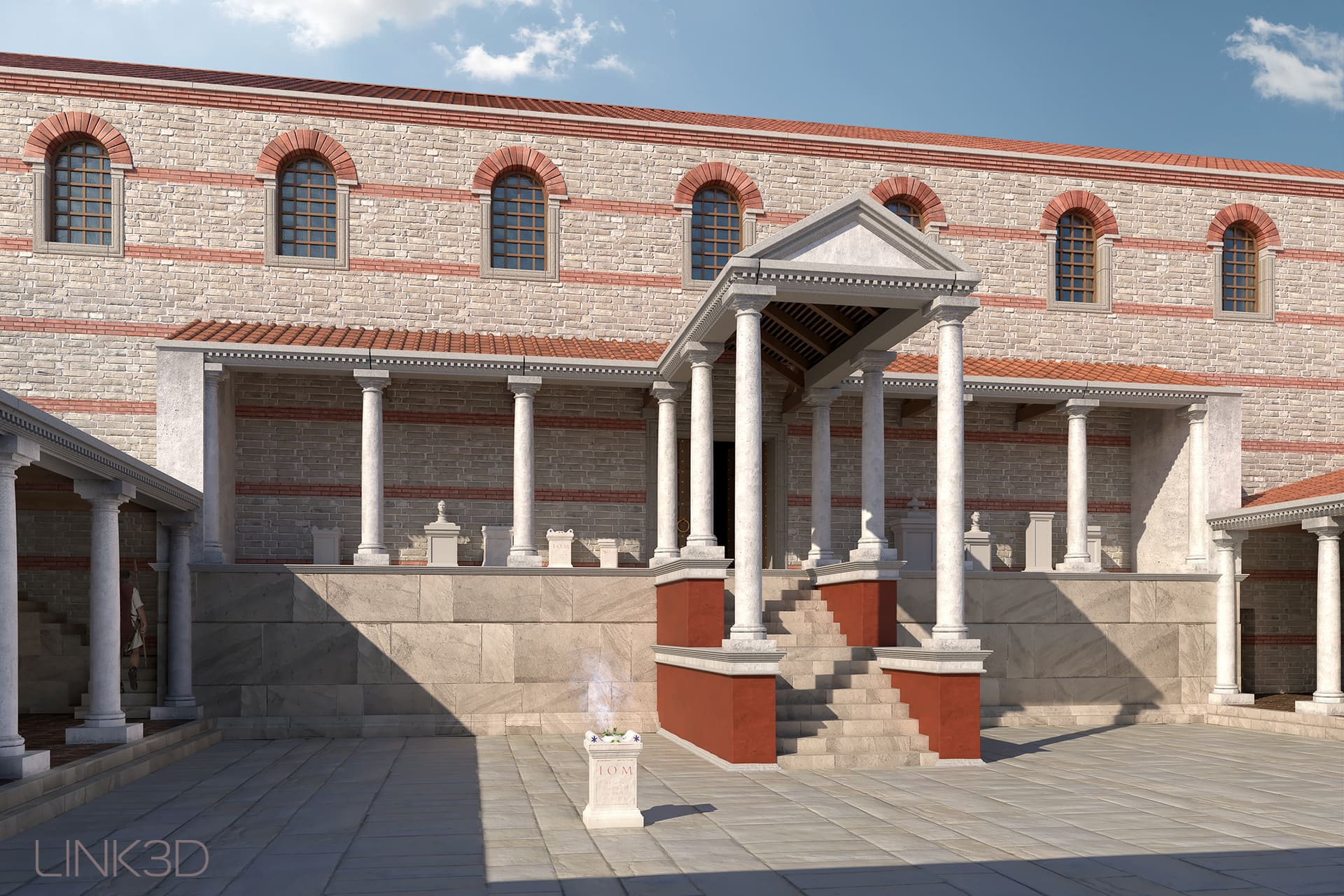 3D-Reconstruction of the Roman Principia Tarsatica Rijeka by LINK3D Virtual Worlds, Matthias Link, Freiburg Germany 2020